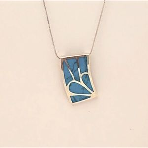925 Silver and Turquoise Pendant Necklace
